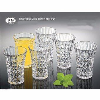 Harga 6pcs Diamond Long Drink Tumbler (Glasses)