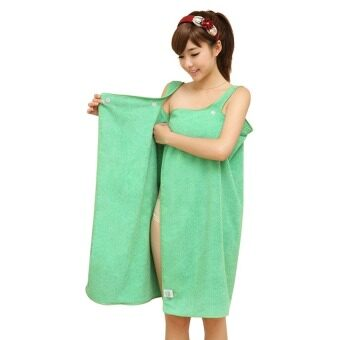 Harga Upgraded Magic Towel With Button Magic Multi Sexy Women Beach Bath Towel Travel Body Wrap Absorbent Microfiber Shower Bath Drying Terry Towel Magic Multi Sexy Women Beach Bath Towel (Green)