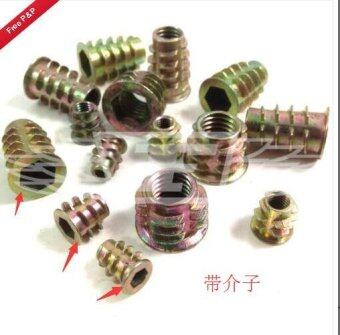 Harga M4 M5 M6 M8 M10 HEX DRIVE SCREW IN TYPE D OR E THREADED INSERT BUSHING FOR WOOD
