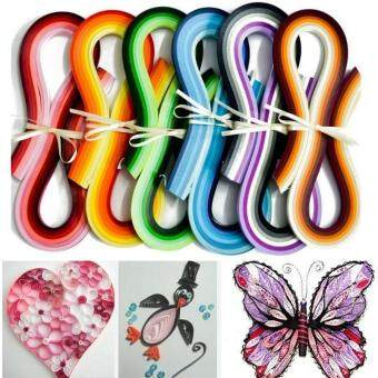 Harga Art craft 100 Stripes Quilling Origami Paper DIY Hanmade Gift Create Assorted Colour