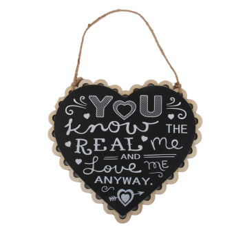 Harga YOU KNOW THE REAL ME AND LOVE ME ANYWAY WOOD SIGN BLACK WEDDING HANG SIGN
