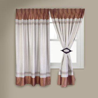 Harga Essina French Pleated Blackout Curtain - STOVER BROWN