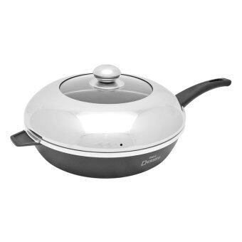 Harga Nice Dessini Non-Stick Frying Pan with Cover - Medium-28cm