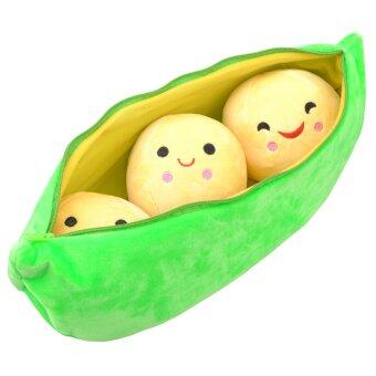 Harga Peas Pillow Super Cute Little Peas Stuffed Plush Doll 3 Peas in a Pod Pea Plants Toy Plush Peas