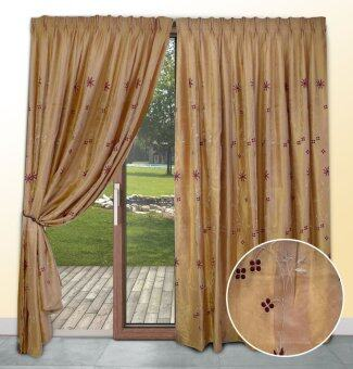 Harga Essina Waxflower 2 Layer French Pleated Curtain - Sliding Door