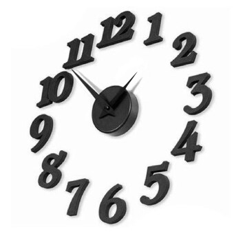 Harga Modern Diy Number Wall Clock Surface Sticker Home Office Decor