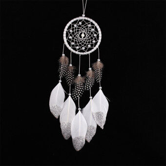 Harga Dream Catcher Handmade Wind Chimes Circular Net Feather Wall Hanging Decoration Ornament Craft Gift (MS6006)