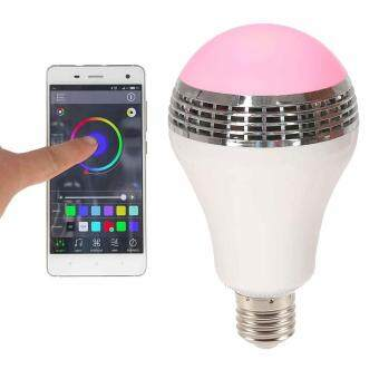 Harga E27 Bluetooth 4.0 APP Smart Music Audio Speaker LED RGB Color Bulb Light Lamp