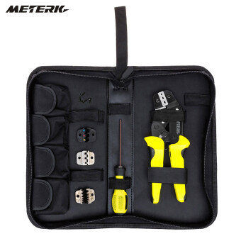 Harga Meterk Professional 4 In 1 Wire Crimpers Engineering Ratcheting Terminal Crimping Pliers Bootlace Ferrule Crimper Tool Cord End Terminals