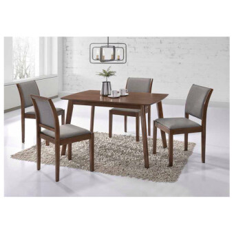 Harga Lora Walnut 5pc Dining Set