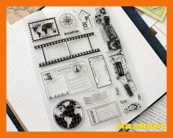 Harga Vintage Earth and Postcard Clear Stamp