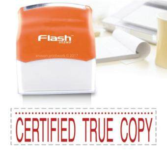 Harga READY MADE FLASH STAMP (CERTIFIED TRUE COPY) RED INK