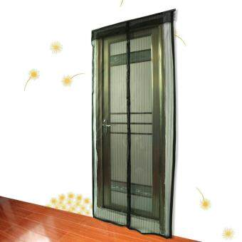 Harga Mesh Screen Anti Mosquito Pest Door Curtain Net with Magnets 210 * 90cm Black