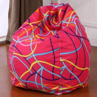 Harga Bean bag chair sofa ( Pink Lining )