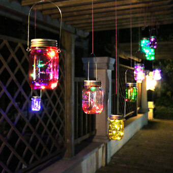 Harga Color Changing Fairy Light Solar Mason Jar Lid Insert Solar Mason Jar Light with LED Mason Jars and Garden Decor Solar Lights