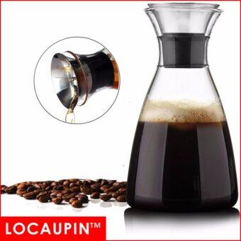 Harga Locaupin 1500ml Large-capa Glass Teapot Glass Bottle Coffee Bottle Glass DrinkWare