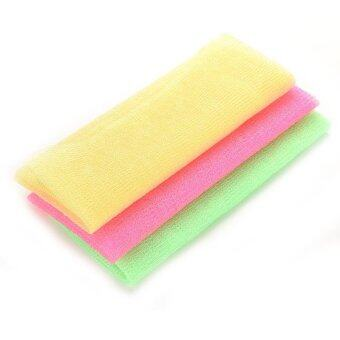 Harga Hot Exfoliating Nylon Scrubbing Cloth Towel Bath Shower Body Cleaning Washing Sponges Scrubbers Bathroom Tool