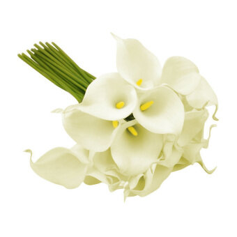 Harga 1pc Calla Lily Bridal Wedding Bouquet Latex Real Touch Flower Bouquets White