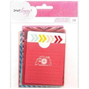 Harga Dear Lizzy Daydreamer Pockets W/Card Inserts 3X4 12/Pkg