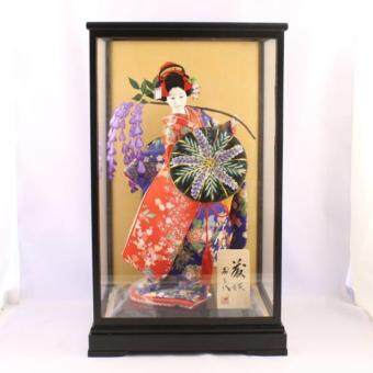 Harga Japanese Vintage Geisha Girl Doll in Glass Display Case ( M )