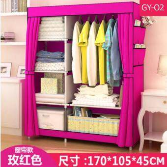 Harga Le Huo Shi Guang GY-02 High Quality DIY Side Open Curtain and Water Resistance Modern Multifunctional Cloth Wardrobe