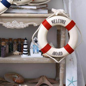Harga 25cm Foam Home Decor Nautical Decor Lifebuoy Life Ring Wall Hanging Showcase