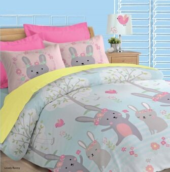 Harga Akemi Fantasia Queen Fitted Sheet Set (Lovely Bunny)