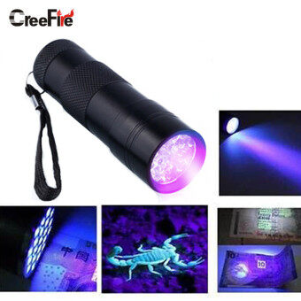 Harga Mini Aluminum Portable UV Flashlight Violet Light 9 LED UV Torch Light Lamp Flashlight