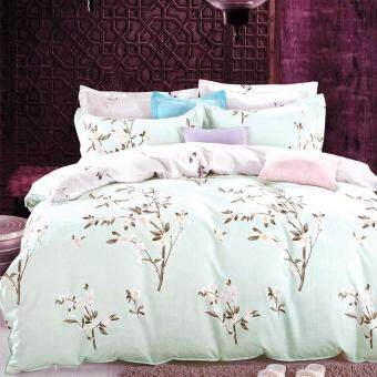 Harga Essina 100% Cotton Rosetta Collection 620TC Fitted Bedsheet set + Comforter Blanket LISABENA - Queen size