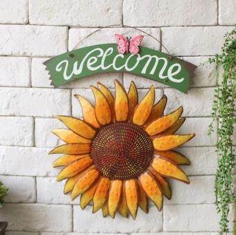 Harga MOON STORE Vintage Hanging Butterfly Sunflower Welcome Sign Sunflower Decor for Door Hanging Home Decor