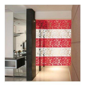Harga Home Decor Elegant & Versatile Hanging Room Divider (16 Panels - Red)
