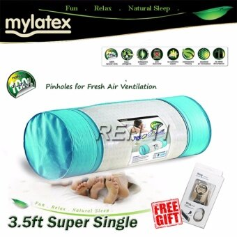 Harga 3.5' Mylatex Pinhole 100% Natural Latex Topper Nero & Free Gift