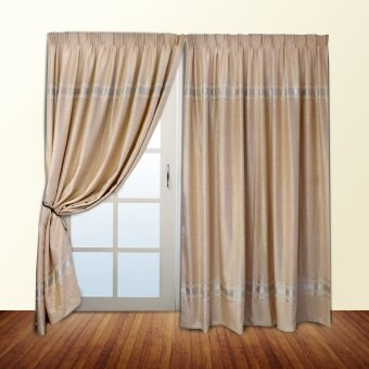 Harga Essina Blackout French Pleated Curtain - Parker (fit sliding door from 240cm - 310 cm width)