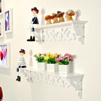 Harga Wall Shelf Rack Storage Ledge Home Decor S