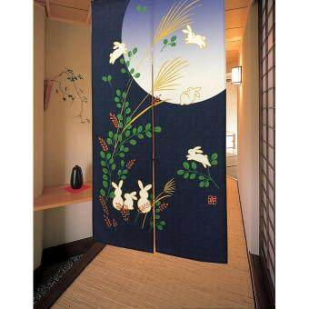Harga Japanese-Style Doorway Curtains with Rod - Rabbit