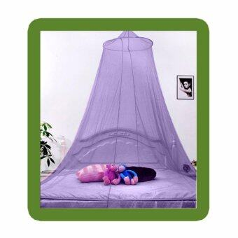 Harga Summer Dome Princess Mosquito Net Round Ceiling Hanging Bed Nets color:Purple