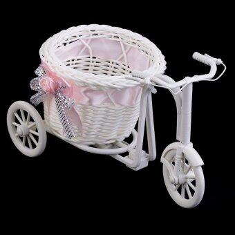 Harga OH BowKnot Rattan Tricycle Bike Basket Party Wedding Decor Gift Home Decor Pink
