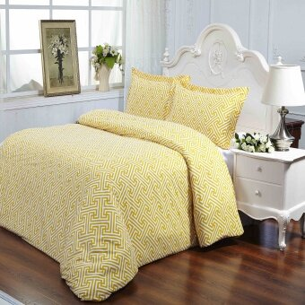 Harga REMY Mayfair Fitted Bedsheet Set-Yellow Maze