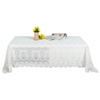 Harga PAlight Embroidery Lace Tablecloth (90*200cm Rectangle)