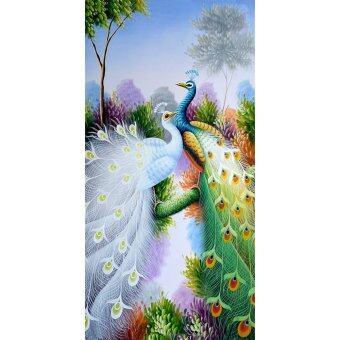 Harga Peacock Pattern Embroidery 5D Diamond DIY Painting Craft Home Decor