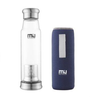 Harga MIU COLOR® Newly-Released High Quality 24.5 Ounces Portable Handmade Water Bottle with Environmental Crystal Glass(Dark Blue)