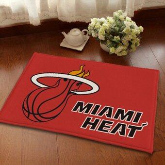 Harga GETEK Absorbent Soft Coral Velvet Non-slip Bathroom Floor Mat Rug NBA Miami Heat (Multicolor)
