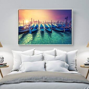 Harga Venice Sunset Landscape Canvas Picture Art HD Print Painting on Canvas for Home Decor Modern Home Wall Decor