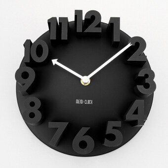Harga 3D Number Dome Round Wall Clock Watch Bell Home Modern Art Decor Black