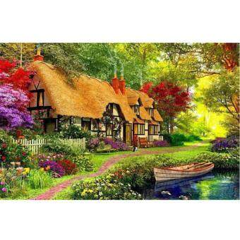 Harga Garden Bungalow 5D Diamond DIY Painting Craft Kit Home Decor