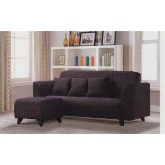 Harga COSMINES S 777 SOFA+STOOL (DARK BROWN)