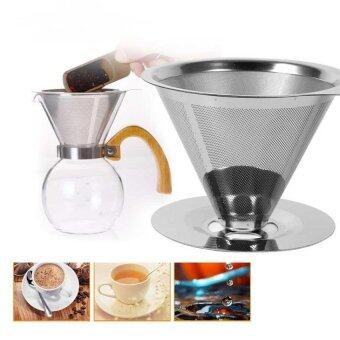 Harga Stainless Steel Coffee Filters / Reusable V-Type Filter Cup Filtercone Filter Drip Coffee Maker Tool Sets For Home &Amp; Ofiice