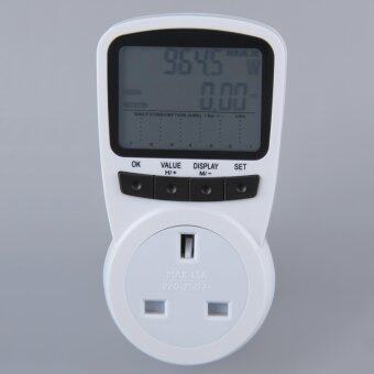 Harga OH TS-1500 Electronic Energy Meter LCD Energy Monitor Plug-in Electricity Meter White