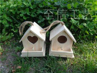 Harga Bird House Nest Breeding Solid Wood