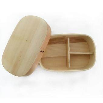 Harga Japanese Bento Boxes Wood Lunch Box Handmade Natural Wooden SushiBox Tableware Bowl Food Container